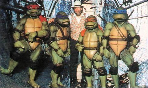 Jim Henson and his muppets - Ninja Turtles