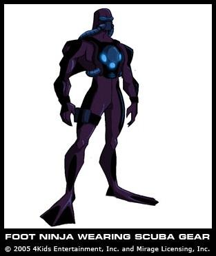 Foot Ninja wearing scuba gear (concept)