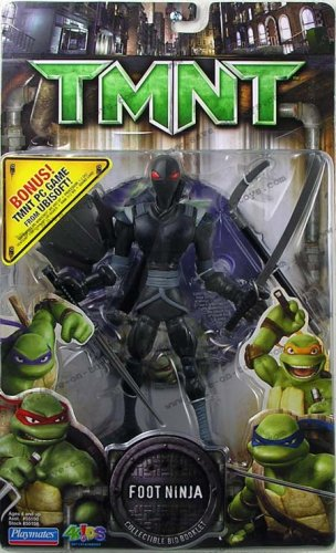 TMNT Movie Foot Ninja Action figure with PC Game Bonus CD in box