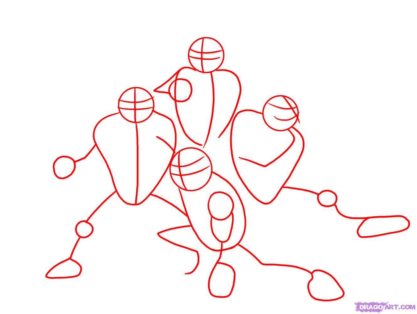 Как нарисовать Черепашек Ниндзя из TMNT 2007 (1)