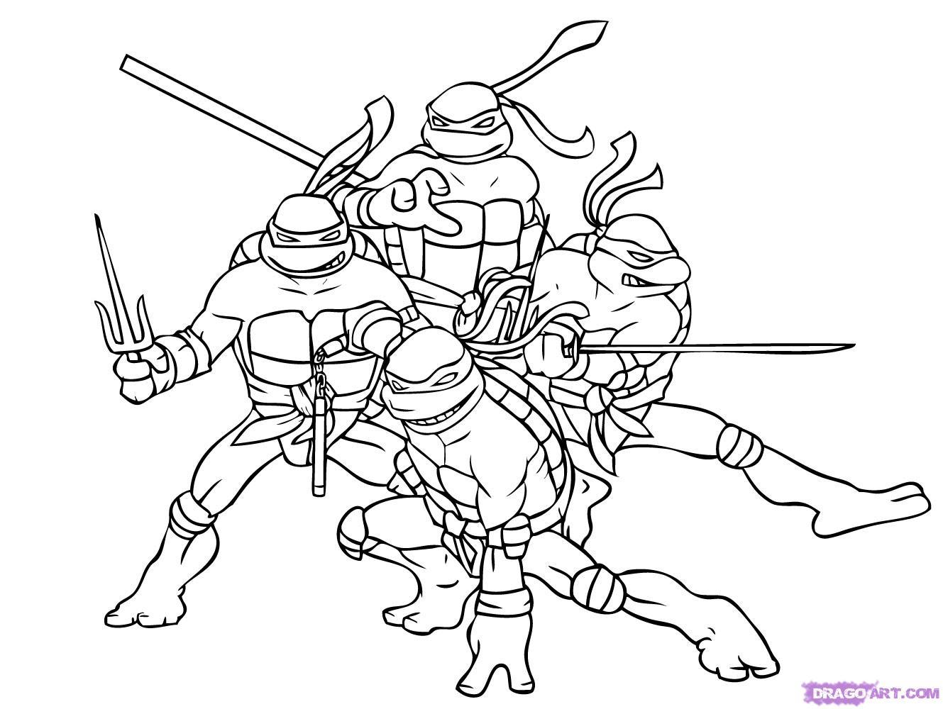 Как нарисовать Черепашек Ниндзя из TMNT 2007 (8)
