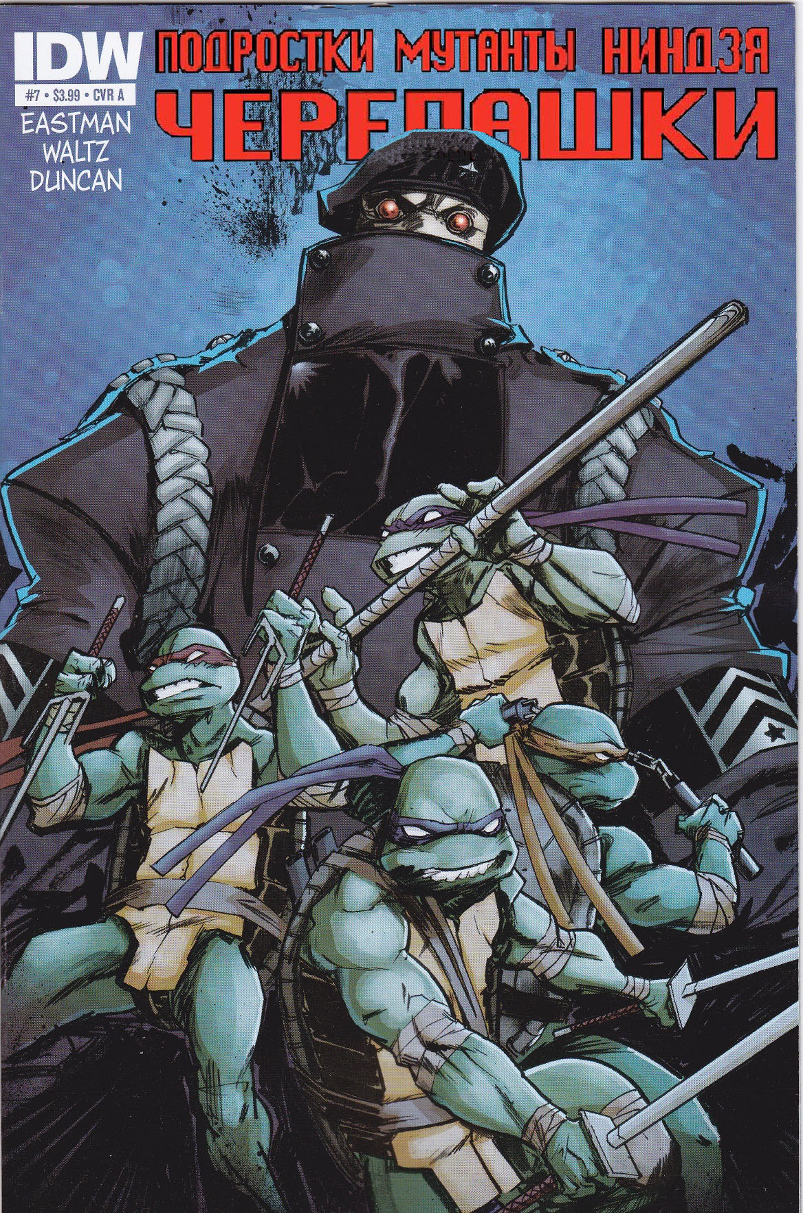 TMNT from IDW, issue 7 (cover)