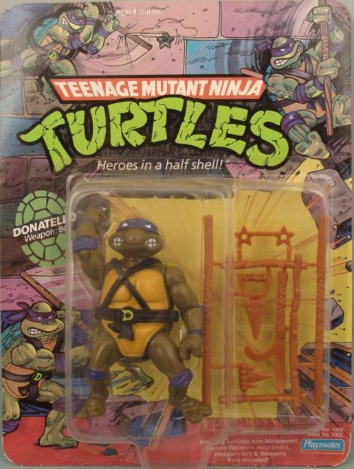 Donatello, 1988 action figure (boxed)