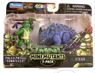 Mini Mutants. Paleo Patrol Donatello vs. Stego (boxed)