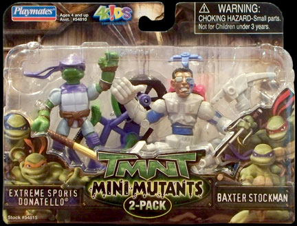 Extreme Sports Donatello vs. Baxter Stockman (2008 mini-figures) boxed