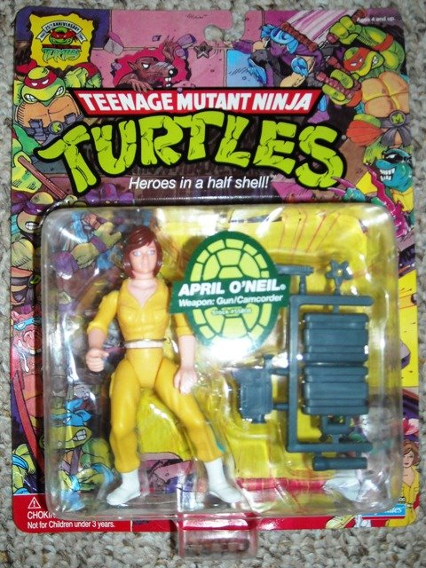 April O'Neil 1988 action figure, reissue (boxed)
