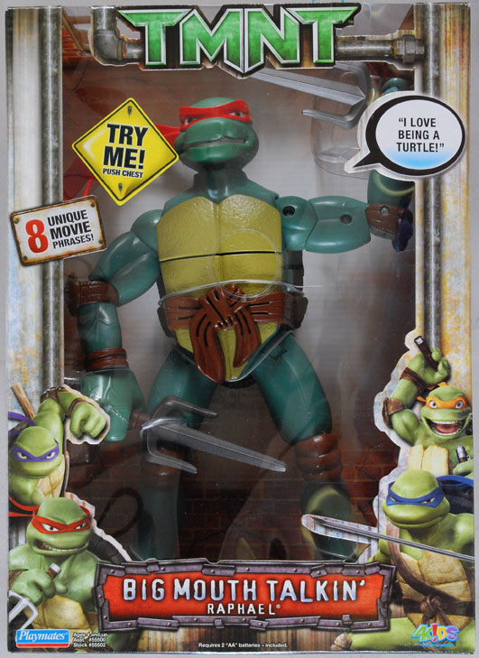Big Mouth Talkin' Raphael from TMNT 2007 film (boxed)