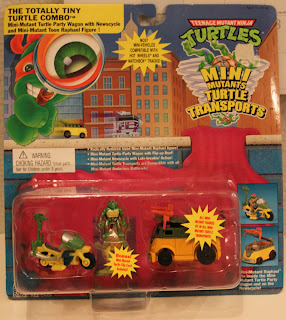 The Totally Tiny Turtle Combo (Mini-Mutant Party Wagon with Newscycle and Mini-Mutant Toon Raphael Figure!) boxed