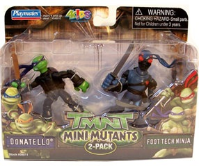 Mini Mutants. Donatello vs. Foot Tech Ninja (boxed)