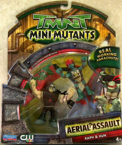 Mini-Mutants Aerial Assault Raph & Hun (boxed)