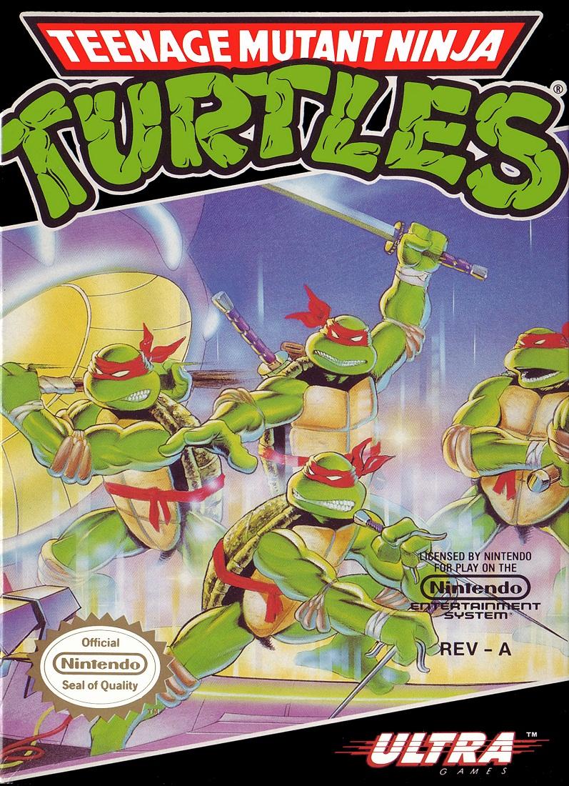 Teenage Mutant Ninja Turtles game, 1989 (cover)