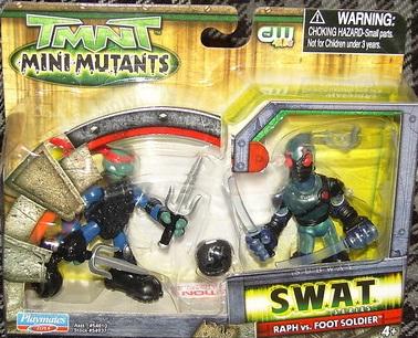 Mini-Mutants SWAT Raph vs. Foot Soldier (Australian only release) boxed