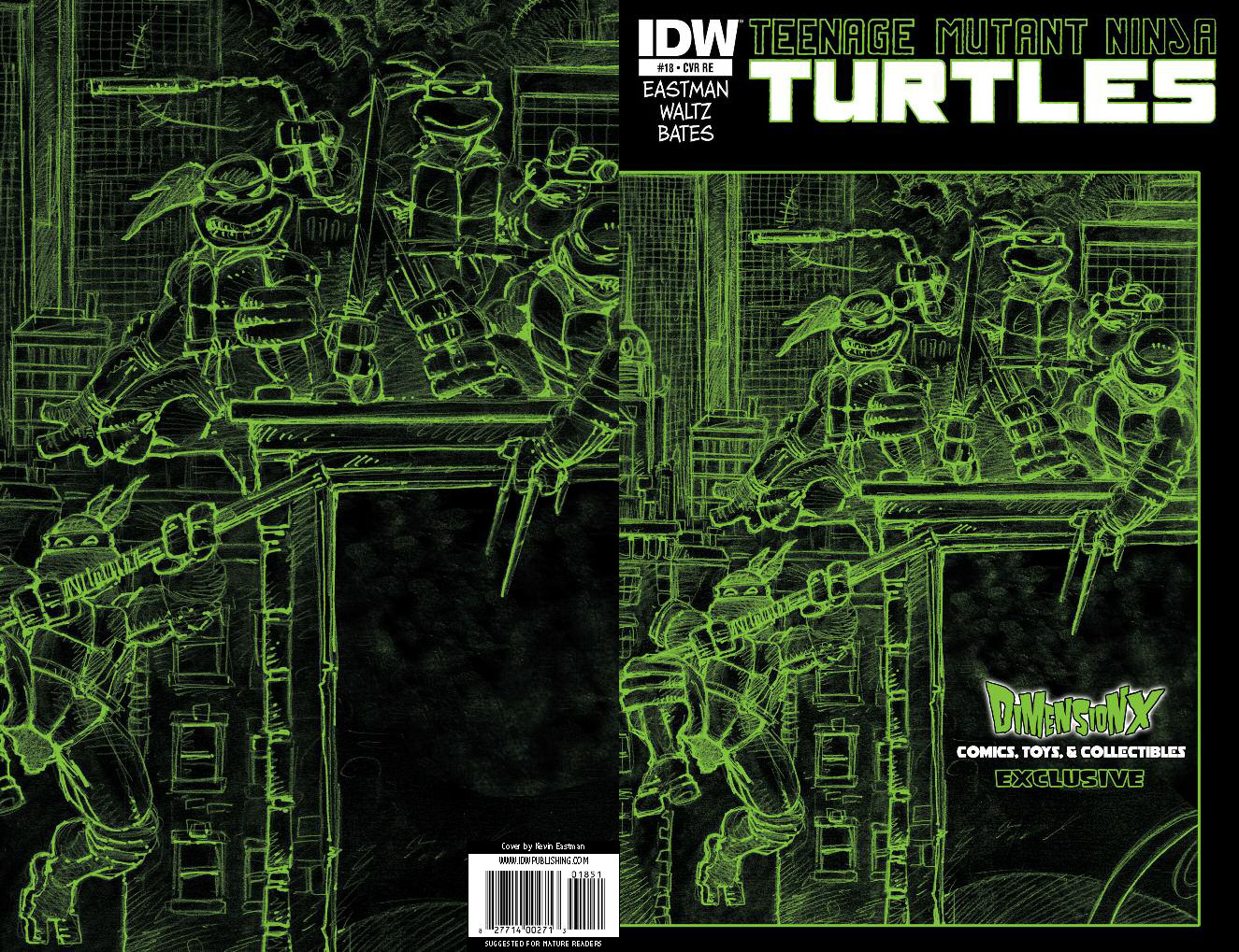 Dimension X Comics Exclusive Cover by Kevin Eastman
